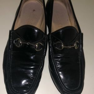Much Worn and Loved Black Gucci Loafers size 39